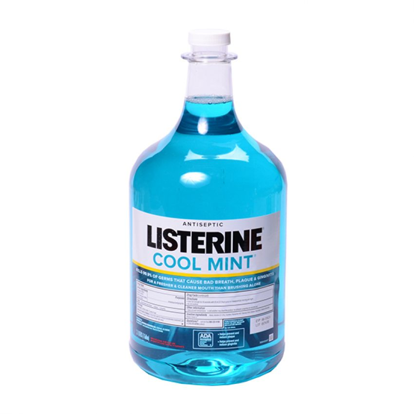 Mouth Wash-Listerine Blue/Cool-Mint W/Pump