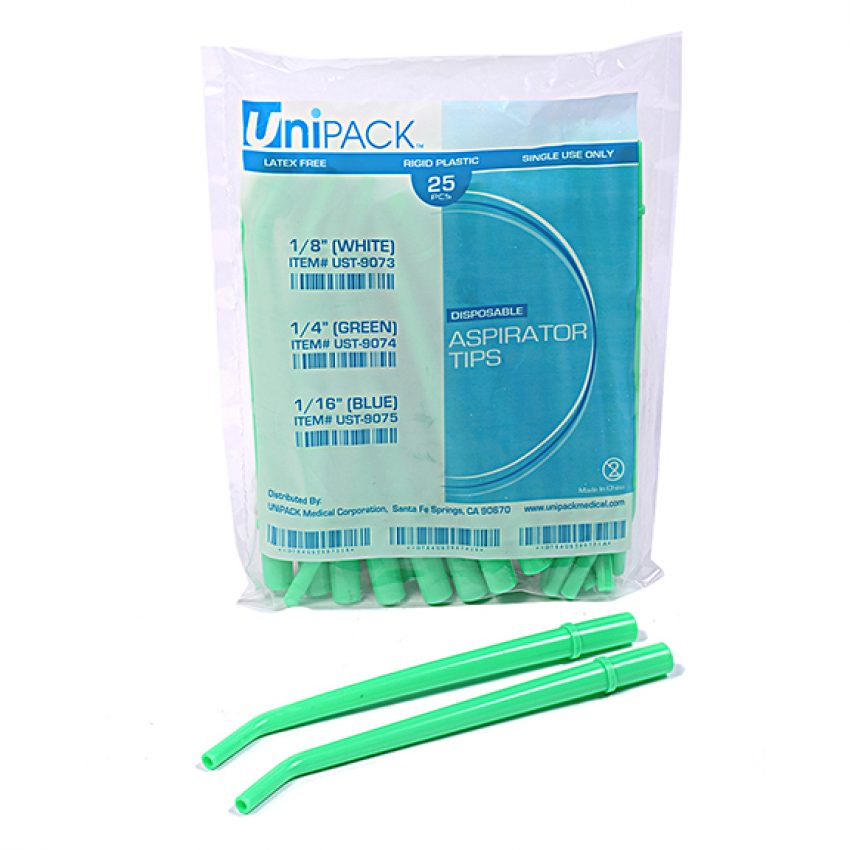 Surgical Asp.Tips (Unipack) Large/GREEN, 25/pk